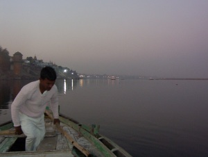 On the Ganga at twilight