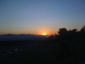 As the sun goes below...