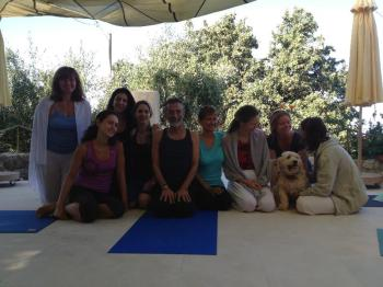 Radiating peace after yoga cikitsa